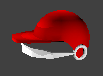 3D model batting helmet mouthguard