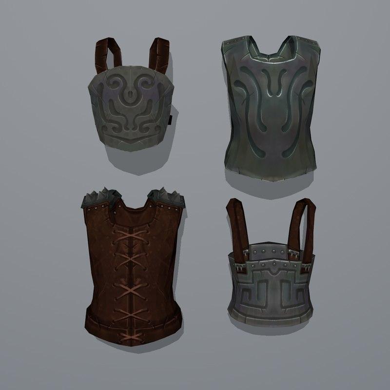 3D gladiator body armors