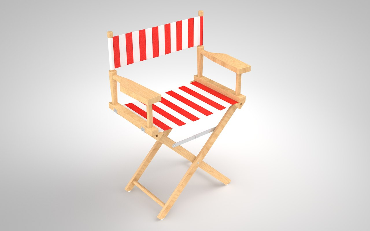 realistic director chair 3D