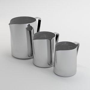 chrome jugs 3D model