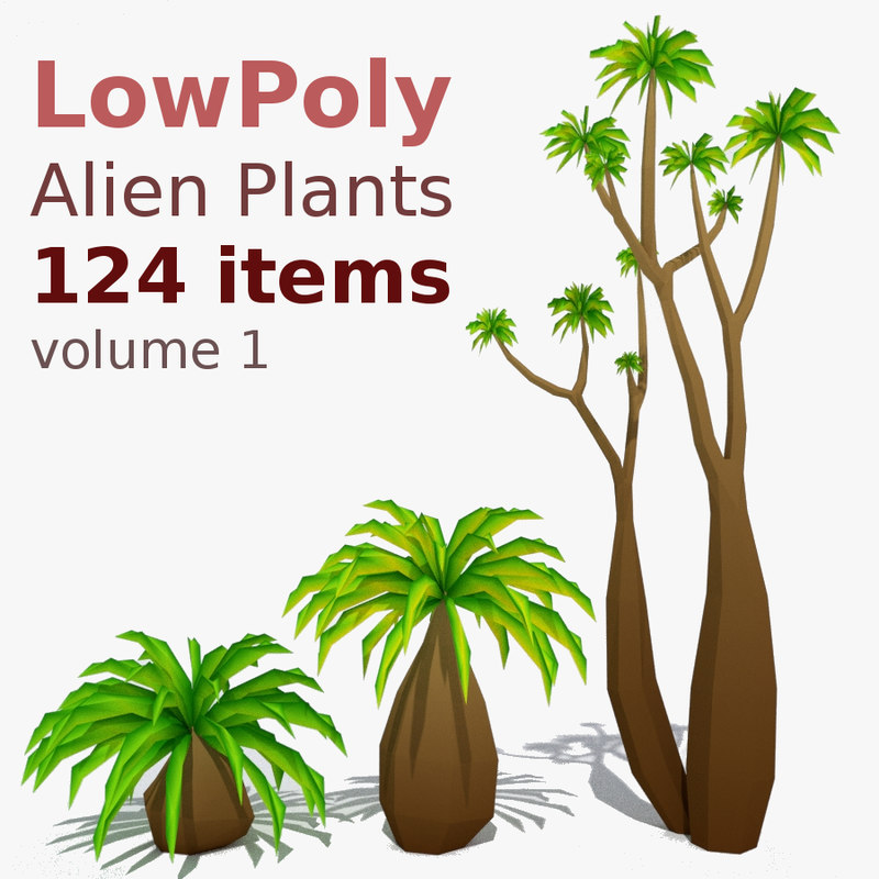 3D model pack plant 124 items