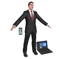 businessman man 3D model