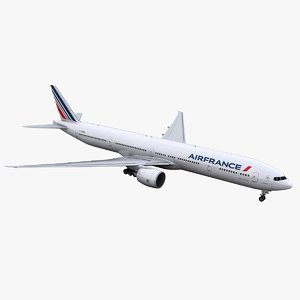 777-300 aircraft air france 3D