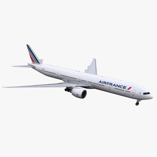 777-300 aircraft air france 3D