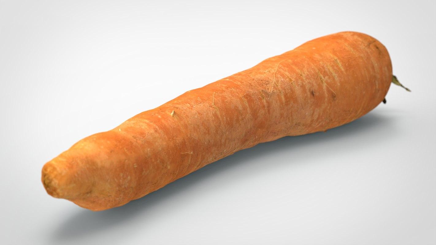 3D food vegetable model