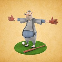 character cartoon 3D model
