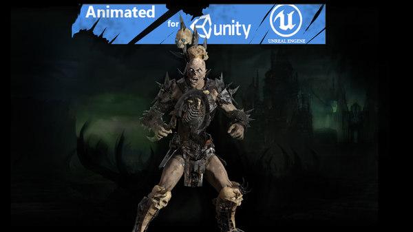 character necromant games 3D model