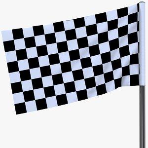 3D racing flag model