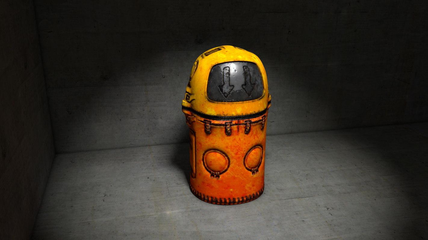 futuristic worn rusty 3D model