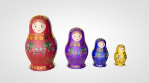 3D matryoshka doll