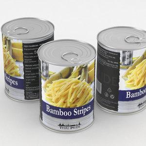 3D food bamboo