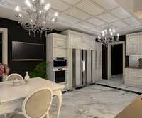 3D kitchen bedroom