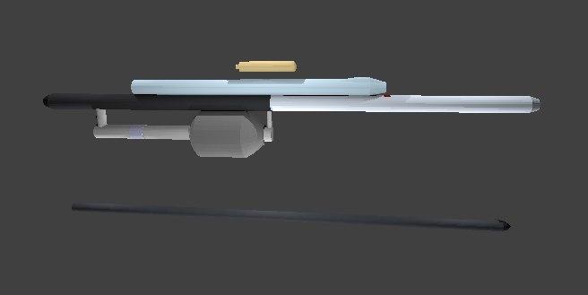 co2 harpoon 3D model