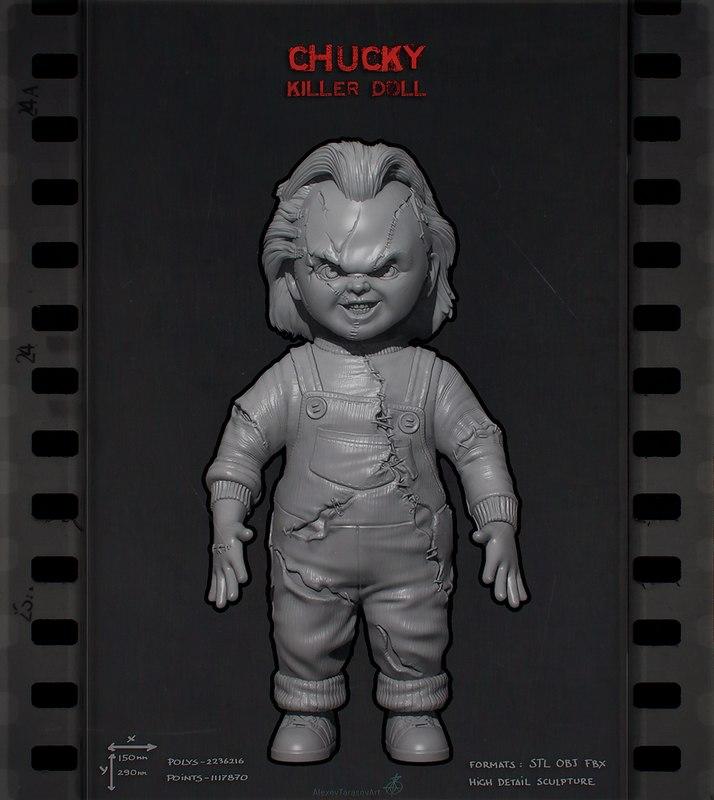 3D chucky doll killer model