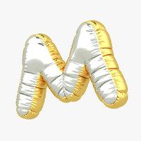 m balloon letter 3D model
