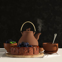 3D cake tea