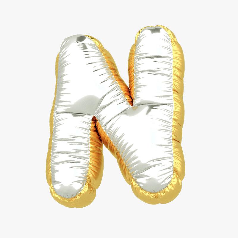 balloon letter n 3D model