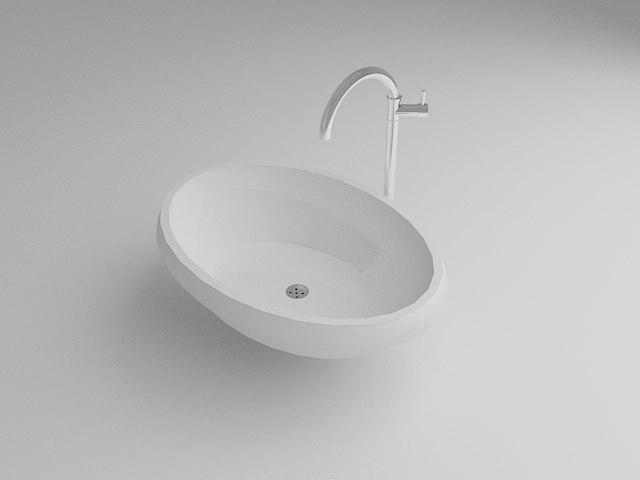 3D model wash basine