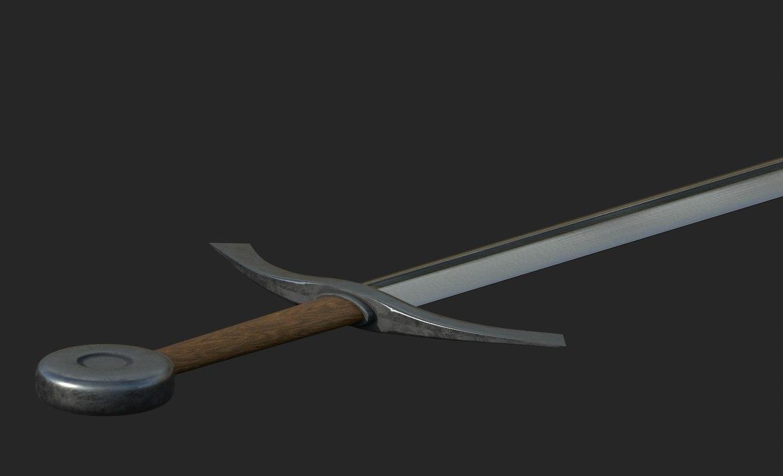 simple medieval sword model