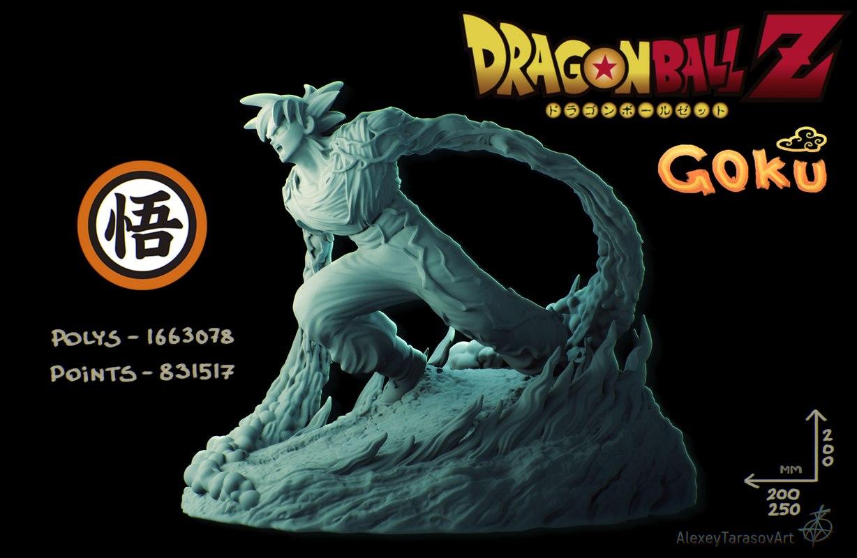 Dragon Ball Z Goku On The Stand 3d Print Model