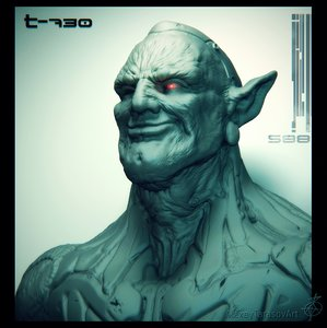3D cyborg elf