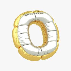 o balloon letter 3D