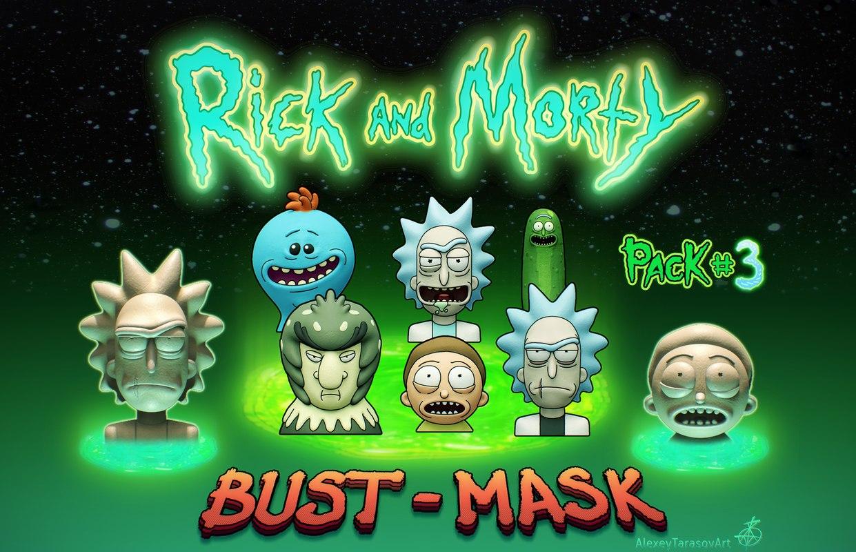 3D rick morty