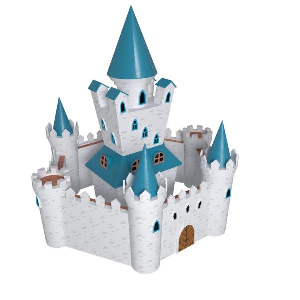 3D fantasy medieval castle