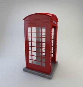 telephone cabin door model