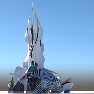 3D model futuristic architectural