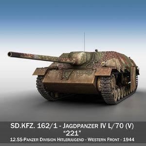 3D jagdpanzer iv l 70 model