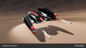 spaceship drone 3D