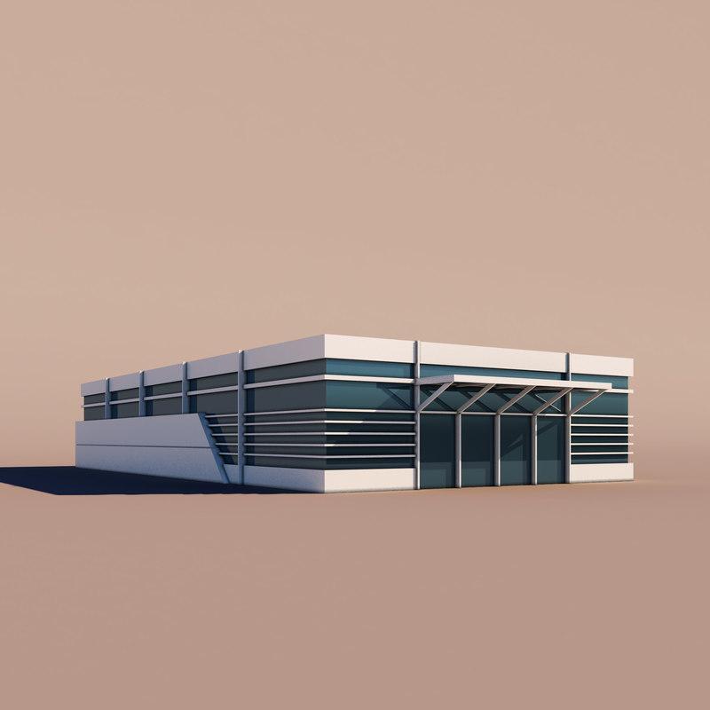 3D model shop architecture