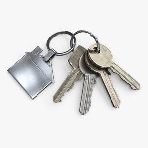 3D keys keychain