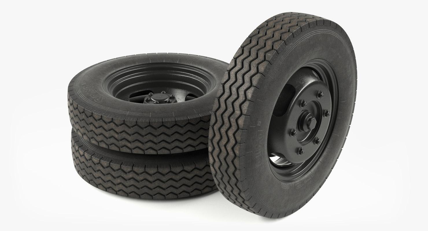 3D sava classic wheels model