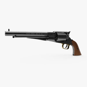 navy revolver remington 1863 3D model