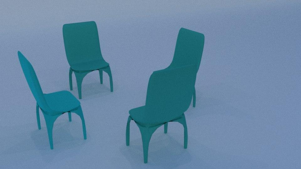 3D chair blender