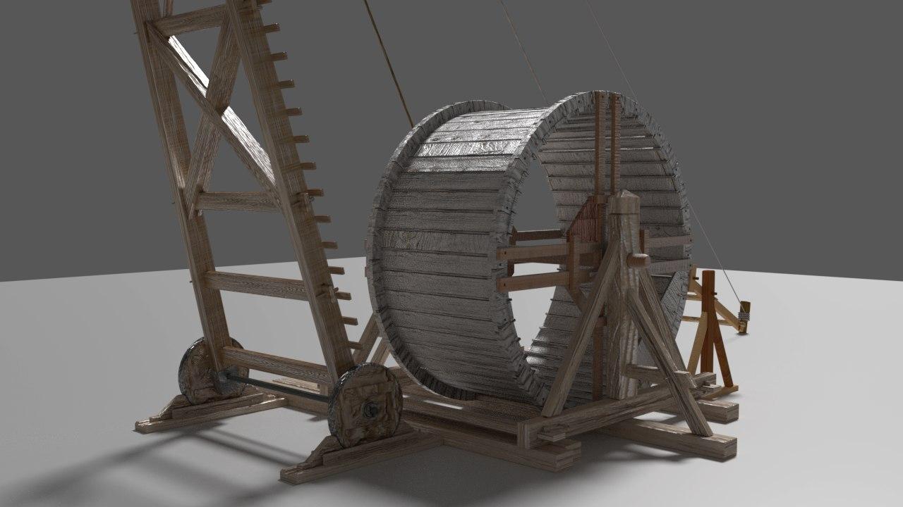 gru medievale 3D