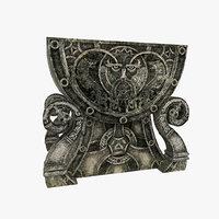 3D celtic altar model