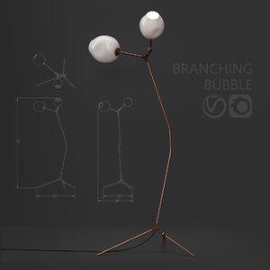 3D branching floor lamp lindsey