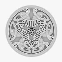 3D celtic ornament 11 model
