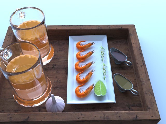 3D model set beer