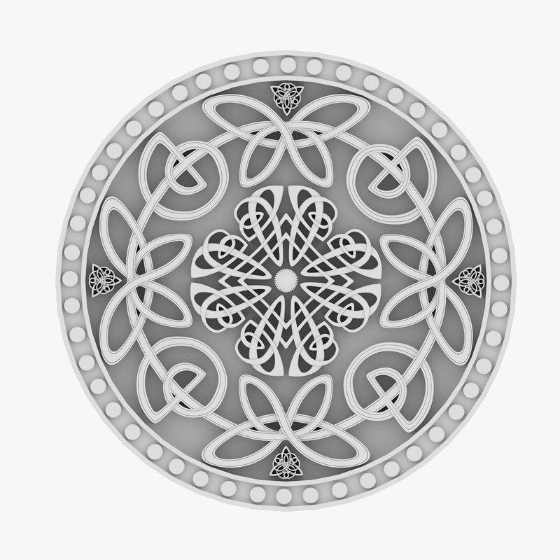 celtic ornament 12 3D model