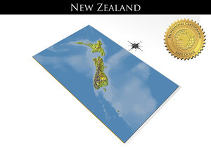 3D model new zealand resolution relief maps