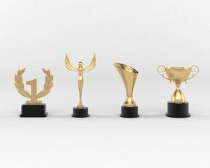 3D cup trophy model