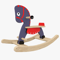 horse rocking navy