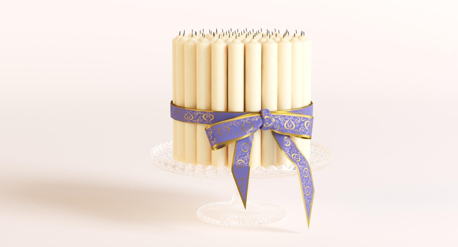 candles corona render 3D model