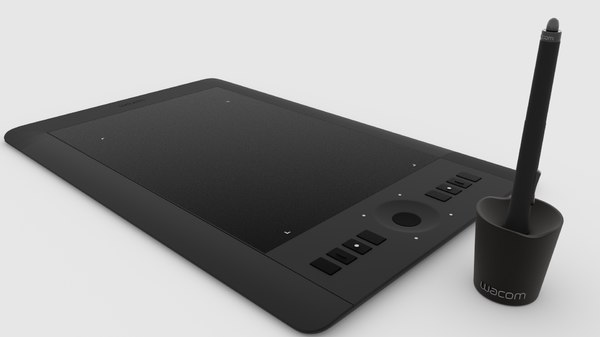 3D model wacom intuos tablet