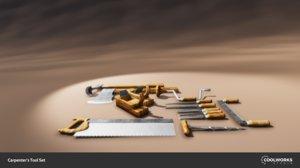 carpenters tools 3D model