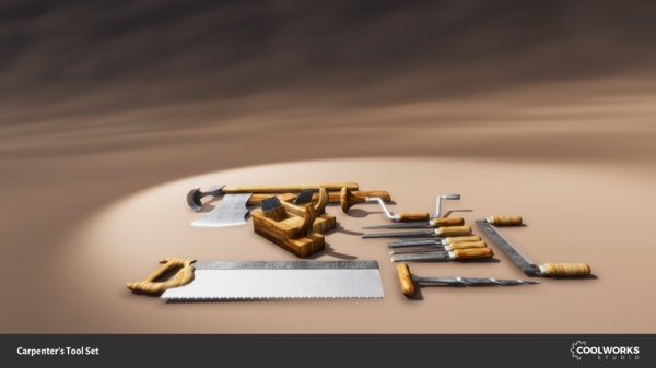 carpenters tools 3D model